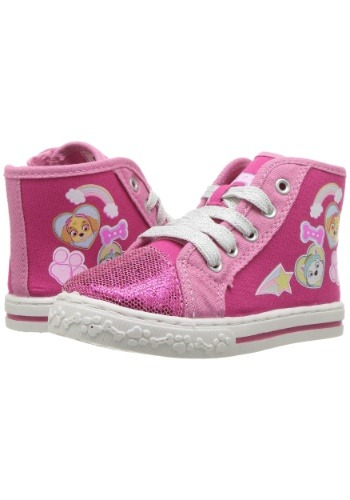 Paw Patrol Pink Girls High Top Sneakers