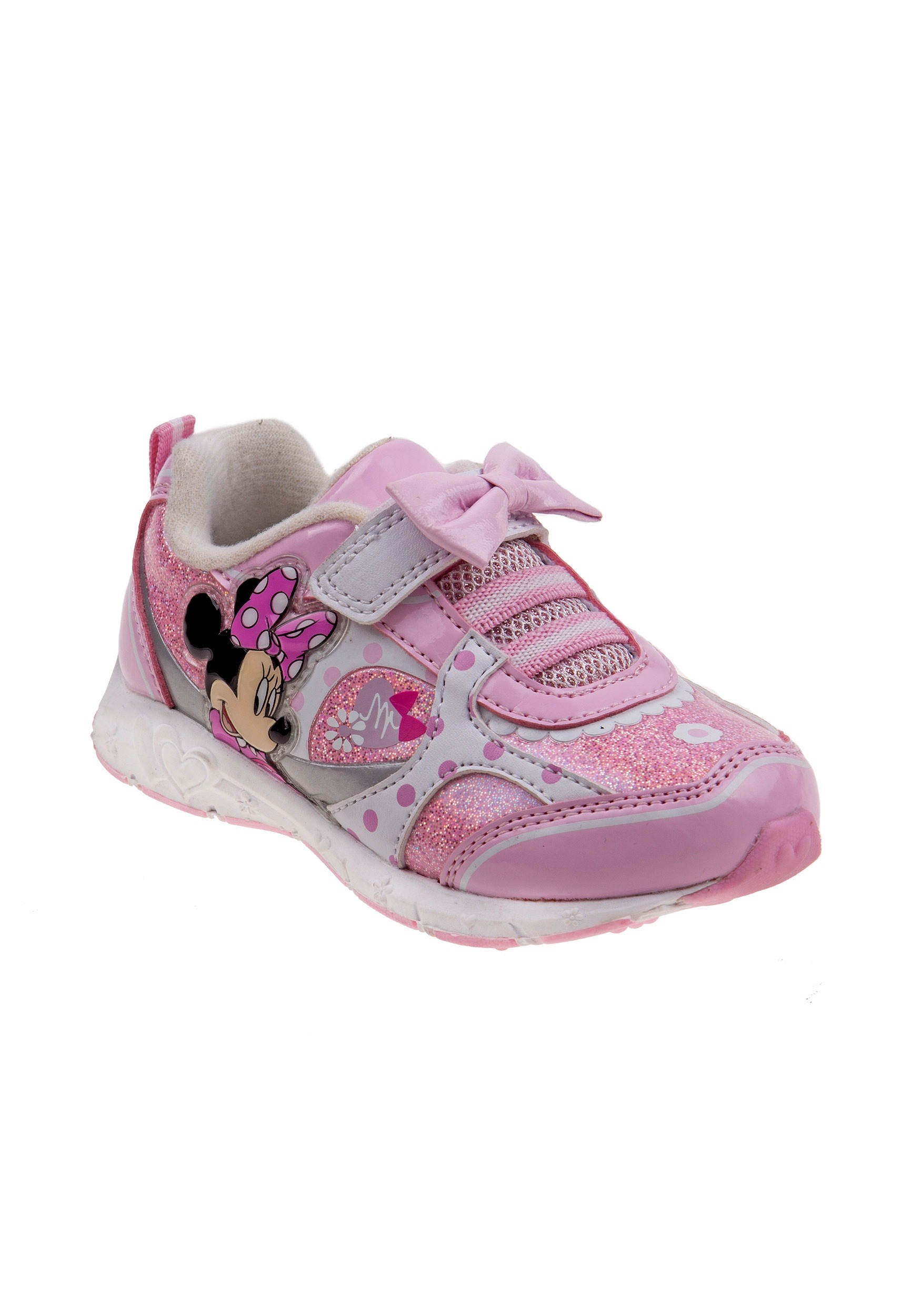 Minnie Mouse Bow Girls Light Up Sneakers
