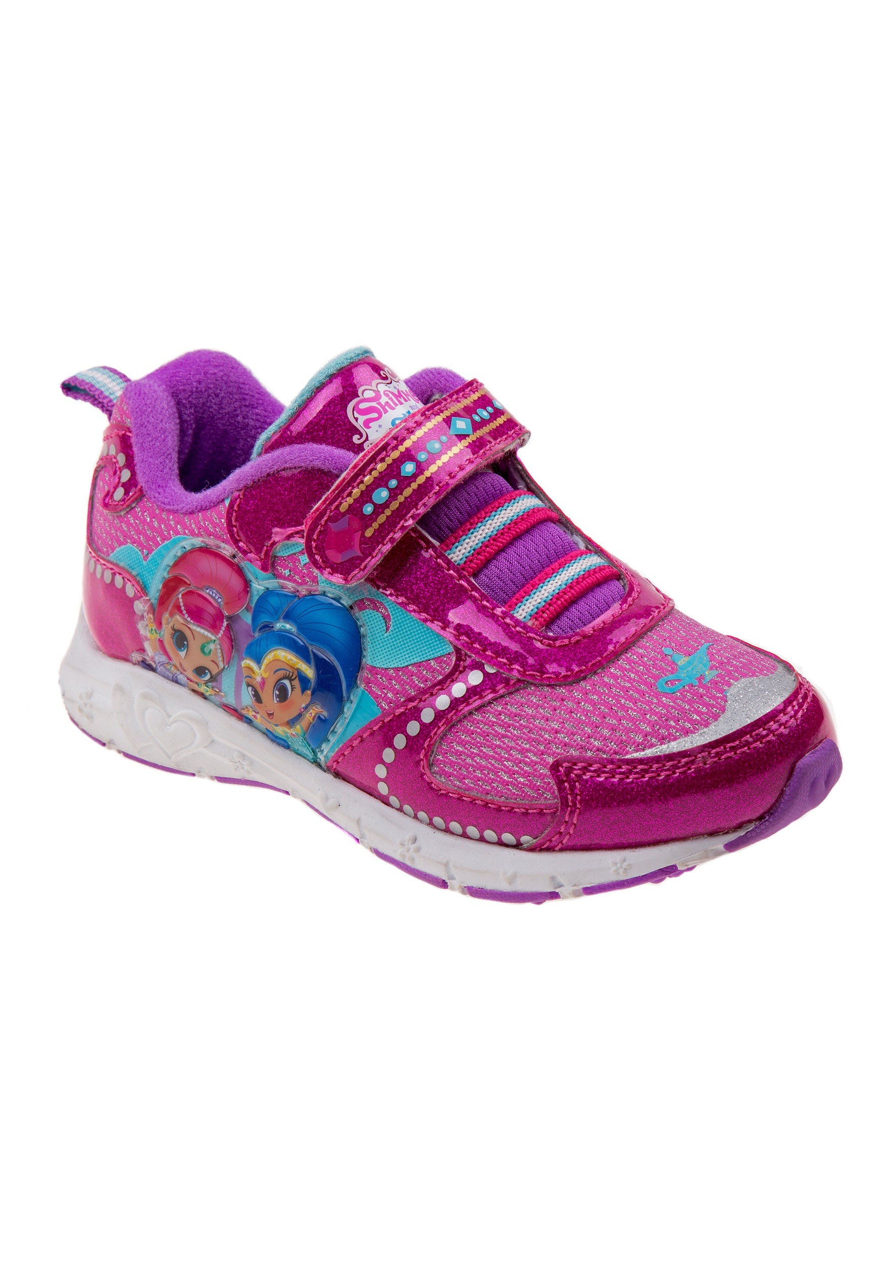 Shimmer and Shine Girls Dark Pink Light Up Sneakers