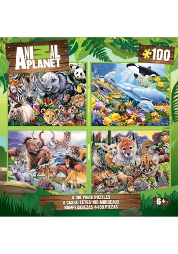 MasterPieces Animal Planet 100 Piece Puzzle 4-Pack