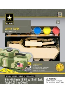 Works of Ahhh U.S. Army Tank Wood Paint Set