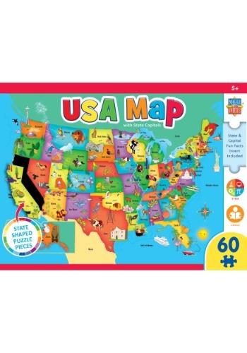 MasterPieces Explorer USA Map 60 Piece Kids Puzzle