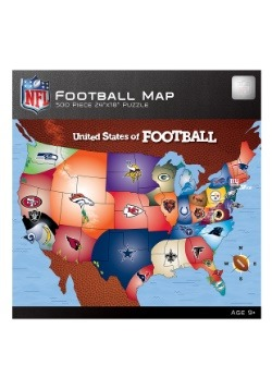 MasterPieces NFL Football Map 500 Piece Puzzle