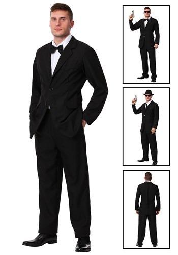 Men's Black Suit Costume