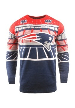 New England Patriots Light Up Bluetooth Ugly X-Mas Sweater