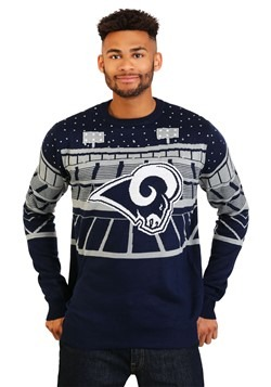 Los Angeles Rams Light Up Bluetooth Ugly Christmas Sweater