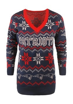 New England Patriots Women's Light Up Ugly Christmas Sweater