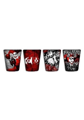 Harley Quinn 4pc Mini Glass Set
