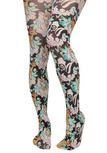 Womens Irregular Choice Disney Bambi and Flower Print Tights