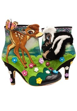 Irregular Choice Disney Bambi and Flower Heeled Ankle Boot
