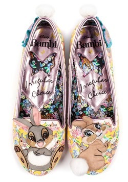 Irregular Choice Women's Bambi Thumper and Miss Bunny Flats