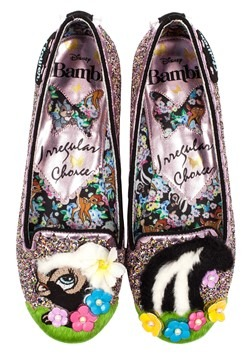 Irregular Choice Disney Bambi Flower Glitter Flats