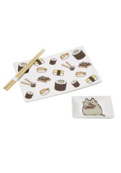 Pusheen Onim Sushi Dish Set w/ Chopsticks
