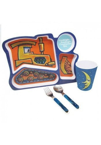 Goodnight, Goodnight Construction Site 4 Piece Melamine Set
