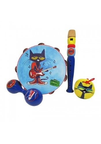 Pete the Cat 4 Piece Wooden Instrument Set