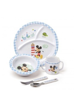 Mickey Mouse 5 Piece Melamine Meal Set