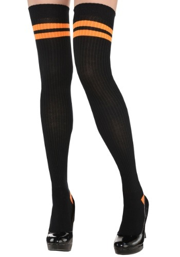 Orange Stripe Thigh Highs