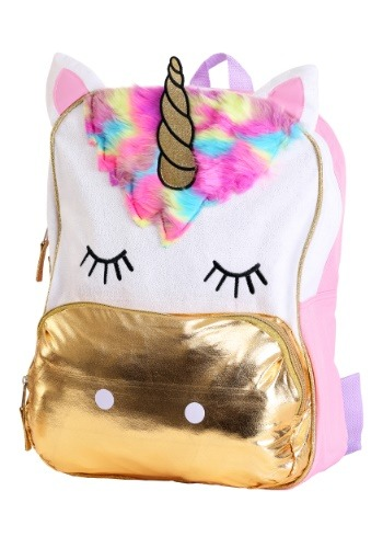 """Kids Despicable Me Fluffy Unicorn 16"""" Backpack"""