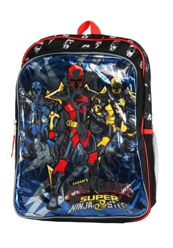 "Kids Power Rangers Super Ninja Steel 16"" Backpack"