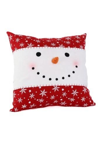 """16"""" Snowman & Snowflakes Pillow"""