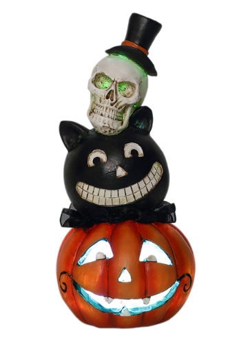 Resin LED Halloween Stack Heads Décor update