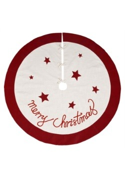 Fabric Merry Christmas Tree Skirt