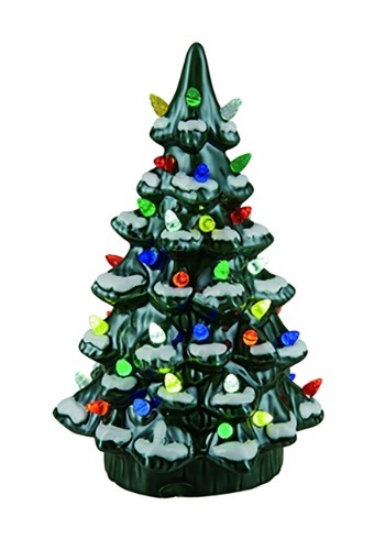 "Ceramic 11.75"" Light Up Nostalgic Tree"