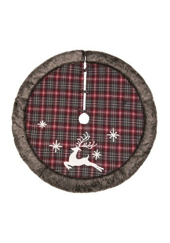 Rustic Reindeer Tree Skirt - Fabric