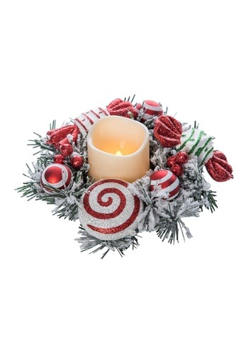 Peppermint LED Candle Centerpiece