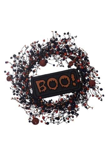 """BOO Halloween 22"""" Wreath"""