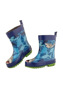 Stephen Joseph Shark Child Rain Boots