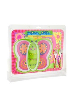 Stephen Joseph Butterfly Mealtime Set