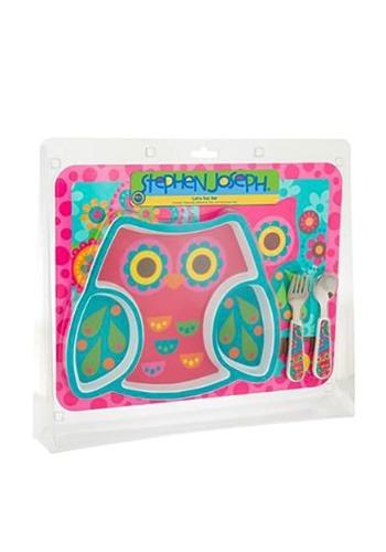 Stephen Joseph Owl Mealtime Set
