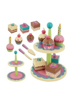 Wooden Stephen Joseph Cupcake & Sweet Toy Set