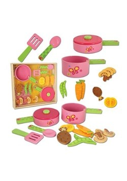 16 Piece Stephen Joseph Wooden Cook Set