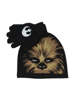 Chewbacca Kids Big Face Beanie & Glove Set