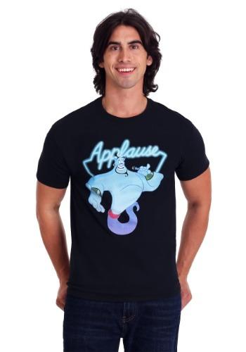 Men's Disney's Aladdin Genie Applause Black T-Shirt
