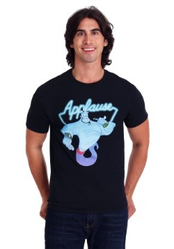 Men's Disney's Aladdin Genie Applause Black T-Shirt