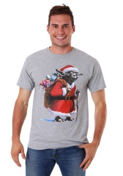Men's Christmas Santa Yoda Green T-Shirt