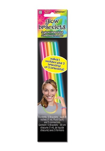 5 Pack of Multicolor Glowsticks