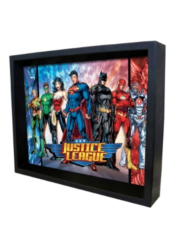 Justice League – Superheroes 8x10 Lenticular Shadowbox