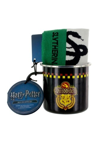 Harry Potter Slytherin Quidditch Tin Mug & Socks Set
