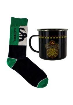 Harry Potter Slytherin Quidditch Tin Mug & Socks Set Alt 1
