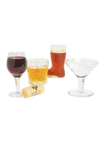 Mini Cocktails 4 Piece Shot Glass Set