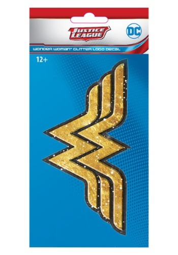 Justice League Exclusive Wonder Woman Gold Glitter Decal