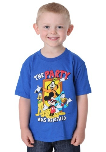 Mickey Mouse The Party Has Arrived Boy's T-Shirt