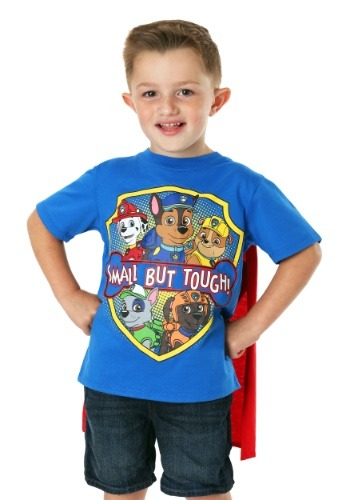 Paw Patrol Boy's Small But Tough T-Shirt with Cape