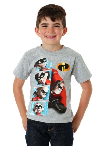 Disney Pixar Incredibles 2 Family and Frozone T-Shirt