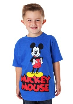 Mickey Mouse Front and Center Blue T-Shirt
