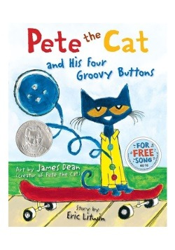 Hardcover Book Pete the Cat and His Four Groovy Buttons